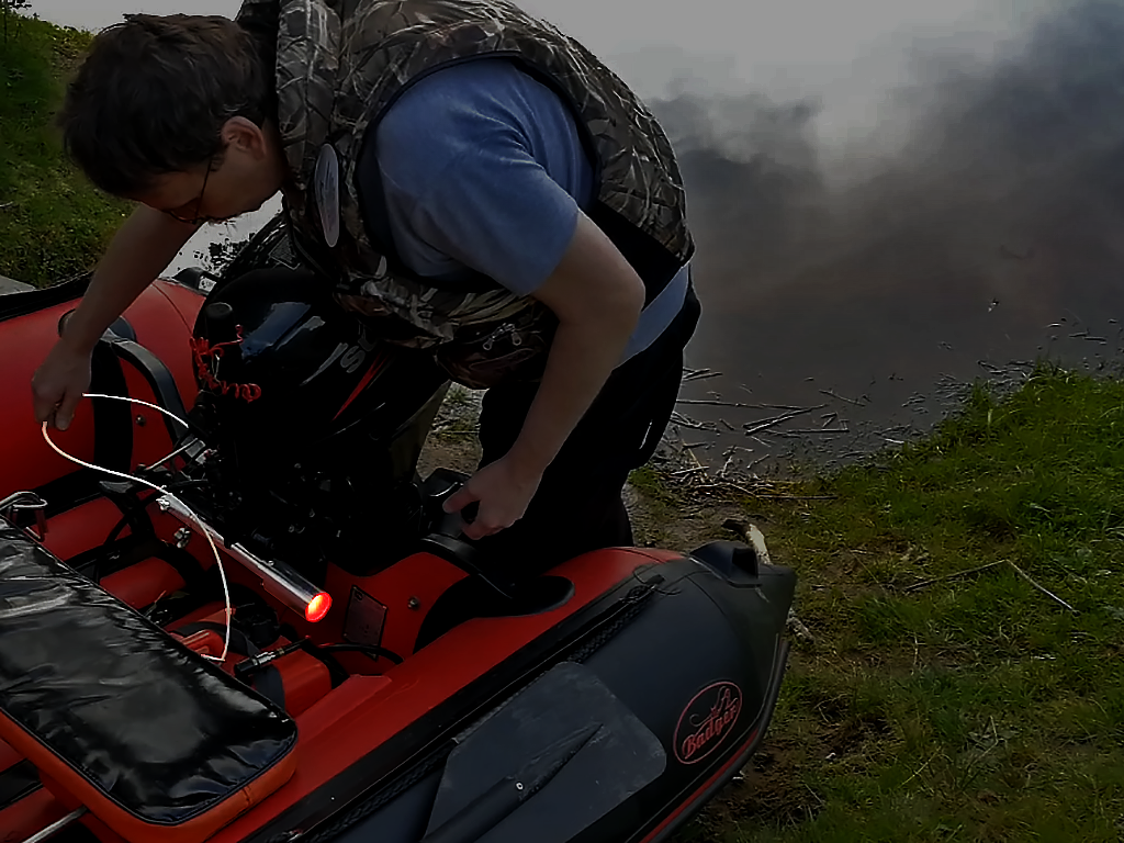 Сиганизация на лодку с мотором в режиме охраны