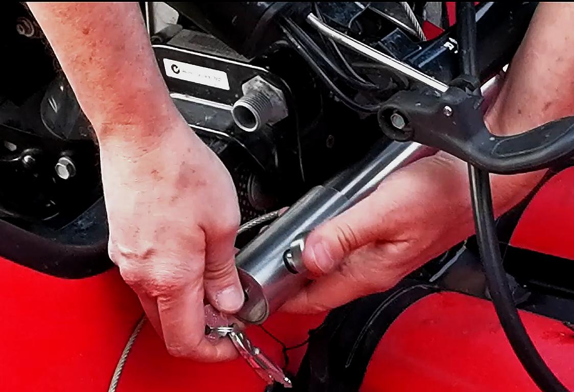 Установка сигнализации на мотор лодки из пвх