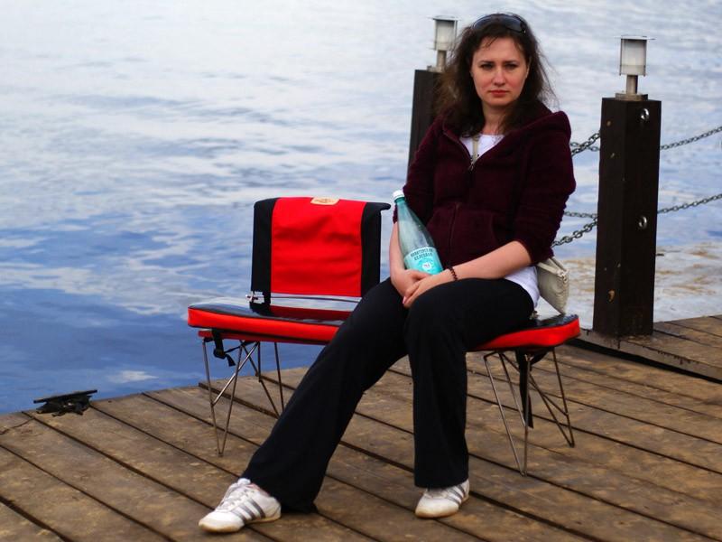 скамейка из банки для лодки