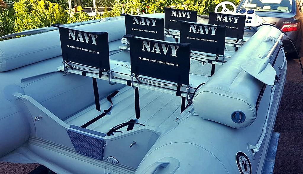 Складное кресло для лодки пвх
